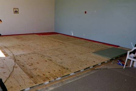 Tatami8. The Sprung Floor Is Completed. Now The Tatami Mats ...